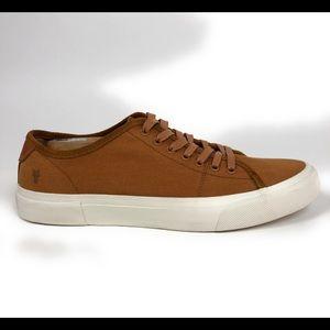 Frye Ludlow Cognac Canvas Low Shoes 3481491-COG
